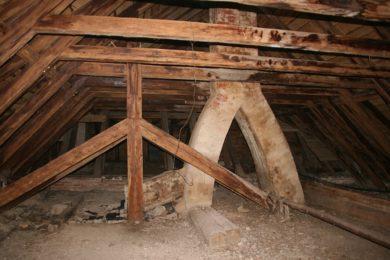 A Columbus attic prior to restoration.